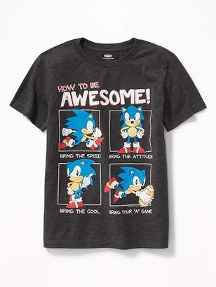 """Old Navy Sonic the Hedgehog """"How to Be Awesome!"""" Tee for Boys"""