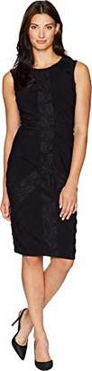 Adrianna Papell Women's Matte Jersey Sheath Dress with Lace Trimming