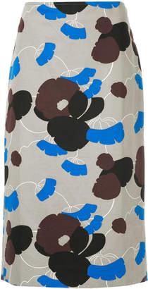 Marni floral pencil skirt