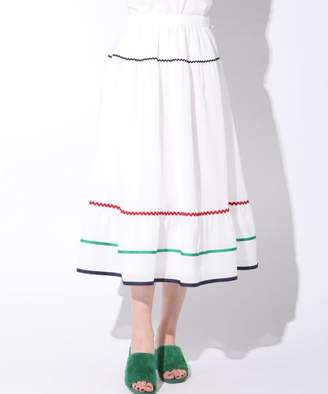 Queens Court (クイーンズ コート) - QUEENS COURT 【泉里香ちゃん着用】マルチカラー配色スカート