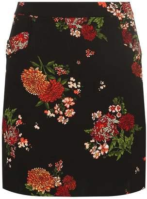 Dorothy Perkins Womens Black Floral Mini Skirt