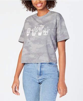 Rebellious One Juniors' Camo Graphic T-Shirt