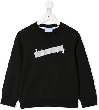 Lanvin Enfant struck-through logo sweatshirt