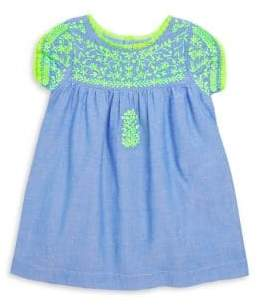 Roller Rabbit Little Girl's& Girl's Embroidered Chambray Dress