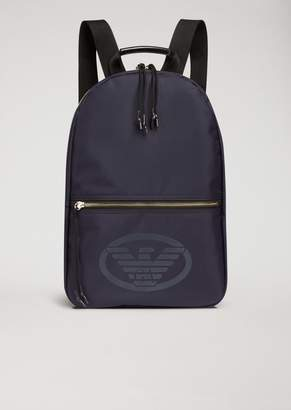 Emporio Armani Technical Fabric Backpack With Logo