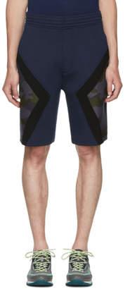 Neil Barrett Navy Iconic Camo Modernist Shorts