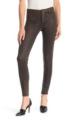 Tractr Mid Rise Faux Suede Skinny Jeans