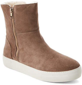 J/Slides Taupe Allie Suede Dual-Zip Boots