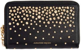 Alexander McQueen Black Medium Studded Continental Wallet