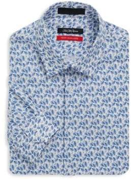 Saks Fifth Avenue Trim-Fit Long Sleeve Feather Shirt