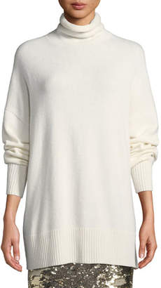 Lafayette 148 New York Relaxed Cashmere Turtleneck Pullover Sweater