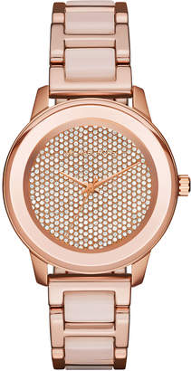 MICHAEL Michael Kors 38mm Kinley Crystal Bracelet Watch, Rose Golden