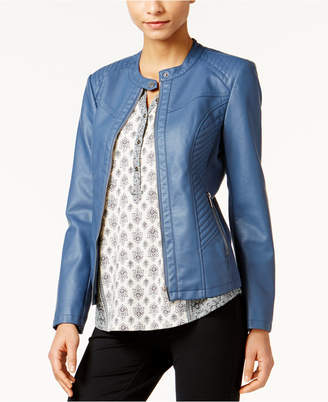Style & Co Faux-Leather Jacket, Only at Macy's $89.50 thestylecure.com