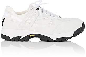 Maison Margiela Men's Lug-Sole Suede & Mesh Sneakers - White