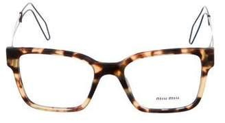 Miu Miu Square Logo Eyeglasses