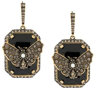 Alexander McQueen embellished butterfly earrings