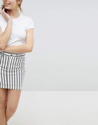 Monki Striped Mini Skirt