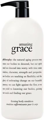 philosophy super-size amazing grace firming body emulsion, 32oz.
