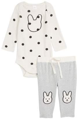 Nordstrom Bunny Bodysuit & Pants Set