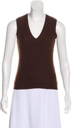 Ralph Lauren Black Label Sleeveless Cashmere Top