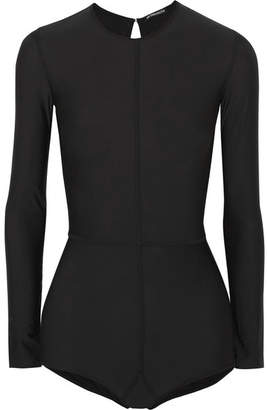 Ann Demeulemeester Open-back Stretch-jersey Bodysuit
