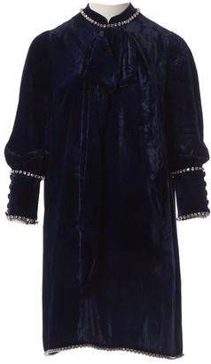 Gucci Navy Velvet Dresses
