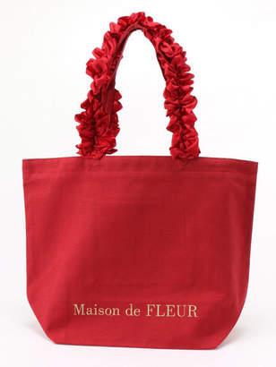 Maison de Fleur (メゾン ド フルール) - Maison de FLEUR フリルハンドルトートMバッグ