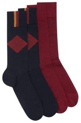 BOSS Hugo Two-pack of socks in a mercerized cotton 7-13 Dark Blue