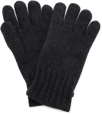 Labonia Leather-Paneled Cashmere Gloves