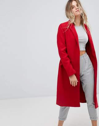 Bershka Long Line Car Coat