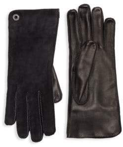 Loro Piana Guanto Jacqueline Leather& Suede Gloves