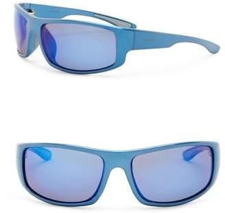 Polaroid Polarized 66mm Wrap Sunglasses