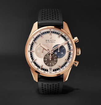 Zenith El Primero Chronomaster 1969 42mm Rose Gold and Rubber Watch