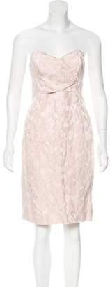 Michael Kors Brocade Strapless Dress