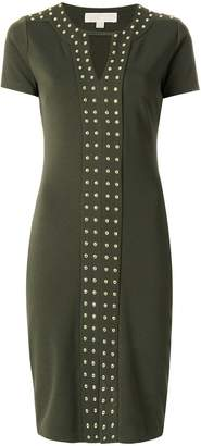 MICHAEL Michael Kors studded short-sleeved dress