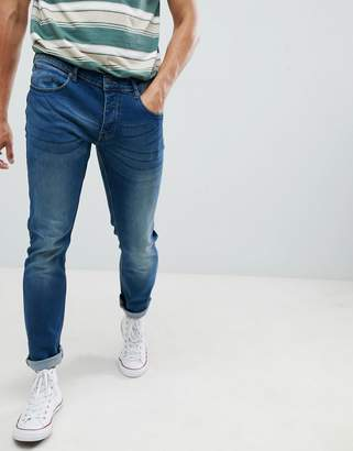 French Connection Blue Skinny Stretch Jeans