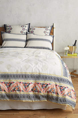 Anthropologie Woven Leonore Duvet Cover