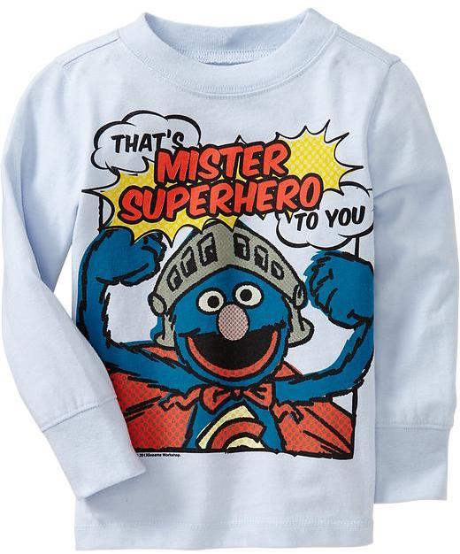 Sesame Street Super Grover Tees for Baby
