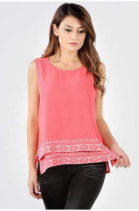 Asstd National Brand Embroidered Hem Tank