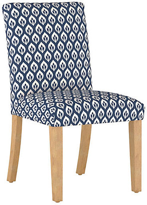 One Kings Lane Shannon Side Chair - Navy Floral