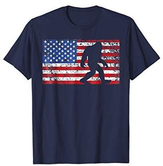 American Flag Bigfoot T-Shirt