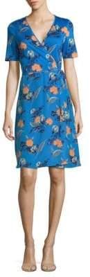Diane von Furstenberg Silk Floral Wrap Dress