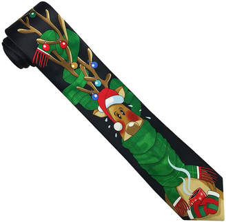 Asstd National Brand Hallmark Vertical Reindeer Sweater Tie