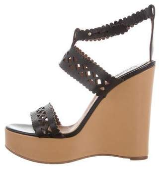 Prada Laser-Cut Wedge Sandals discount outlet store TLLab9el