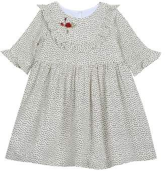 Laura Ashley Printed Crepe Dress (Little Girls)