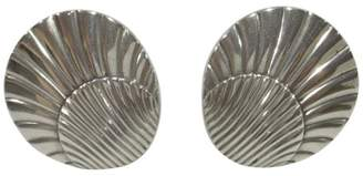 Georg Jensen 925 Sterling Silver Sea Shell Screw Back Earrings