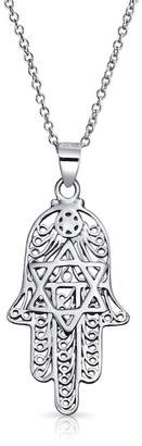 Bling Jewelry Hamsa Faith Pendant Necklace