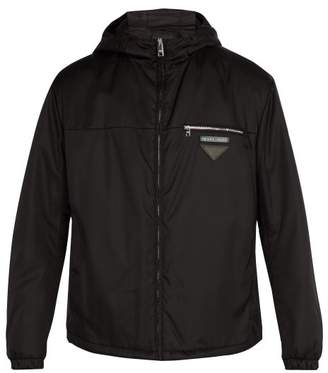 Prada - Hooded Nylon Short Jacket - Mens - Black
