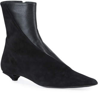 453551bf9bb Black Suede Shoe Boot Kitten Heel - ShopStyle