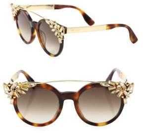 Jimmy Choo Vivy 51MM Crystal-Embellished Cats-Eye Sunglasses